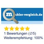 5 Sterne bei Makler-Vergleich.de